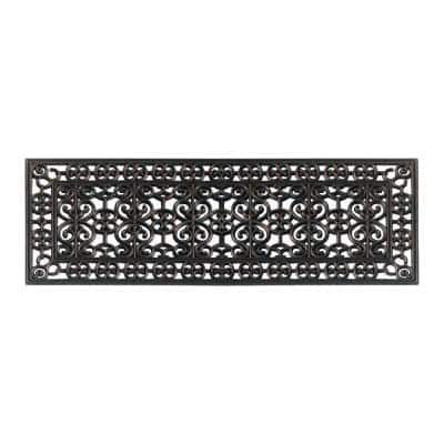 A1HC Scrollwork Beautifully Hand Finished for Indoor Outdoor Use Bronze 18 in. x 48 in. Rubber Doormat