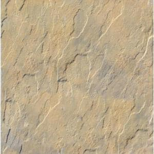 Patio-on-a-Pallet 12 in. x 12 in. Concrete Tan Variegated Traditional Yorkstone Paver (100 Pieces/100 Sq Ft)