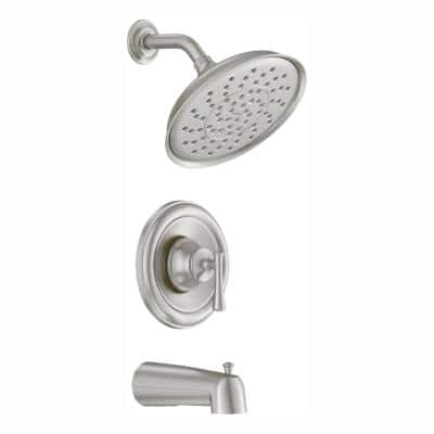 Ashville Single-Handle 1-Spray Tub and Shower Faucet in Spot Resist Brushed Nickel (Valve Included)