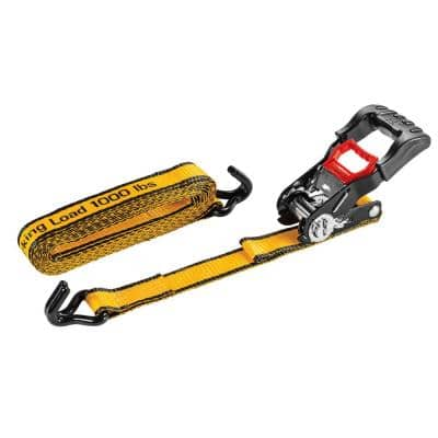 16 ft. x 1-1/4 in. Heavy-Duty Ratcheting 1000 lbs. Tie-Down Straps (4-Piece)