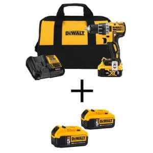 20-Volt MAX XR Cordless Brushless 1/2 in. Drill/Driver with (3) 20-Volt 5.0Ah Batteries & Charger