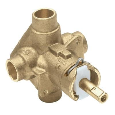 Brass Rough-In Posi-Temp Pressure-Balancing Cycling Tub and Shower Valve - 1/2 in. CC Connection