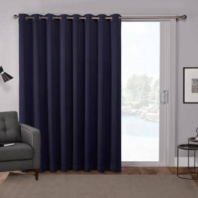 Peacoat Blue Thermal Grommet Blackout Curtain - 100 in. W x 84 in. L