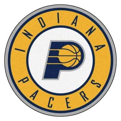 NBA Indiana Pacers Gold 2 ft. x 2 ft. Round Area Rug