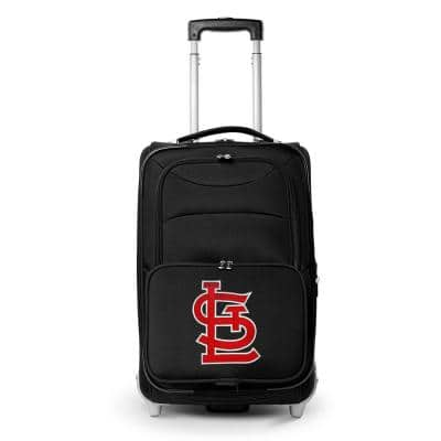MLB St Louis Cardinals  21 in. Black Carry-On Rolling Softside Suitcase
