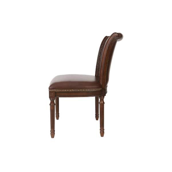 Newridge Home Goods Newridge Brown Chapman Dining Chair Set Of 2 Nr224702 Psc Mh The Home Depot