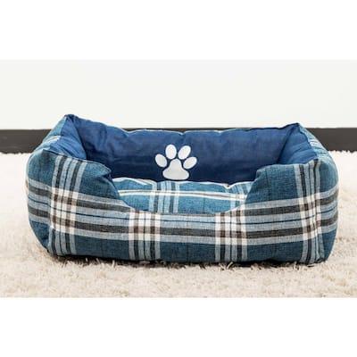 Hadley Small Denim Square Pet Bed