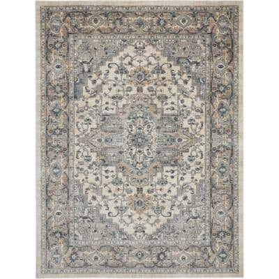 Concerto Ivory/Grey 8 ft. x 10 ft. Persian Modern Area Rug