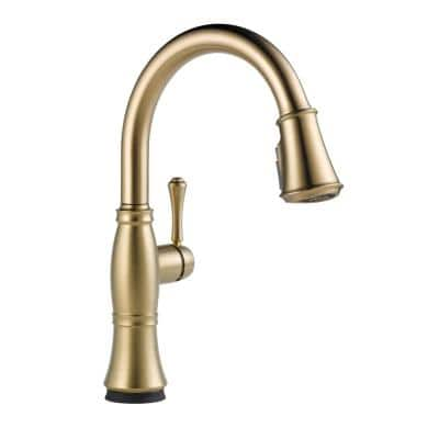 Cassidy Touch Single-Handle Pull-Down Sprayer Kitchen Faucet in Lumicoat Champagne Bronze