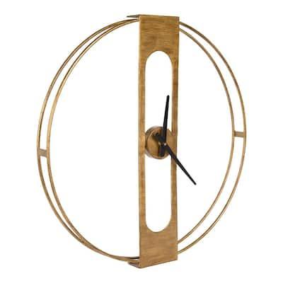 Urgo Gold Modern Metal Wall Clock