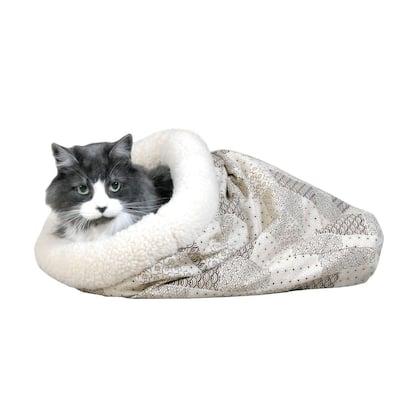 Kitty Crinkle Sack 15 in. x 18 in. Tan Cat Bed