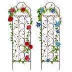 60 in. Iron Arched Trellis - Set of 2