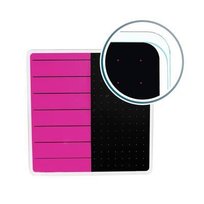 Viztex® Glacier 14 in. x 14 in. Violet and Black Plan and Grid Glass Dry Erase Board