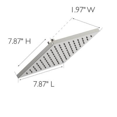 Karsen II 1-Spray Patterns 7.87 in. Single Wall Mount Fixed Shower Head in Satin Nickel
