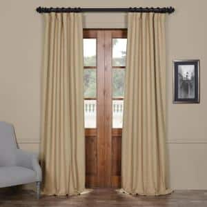Ginger Rod Pocket Blackout Curtain - 50 in. W x 120 in. L