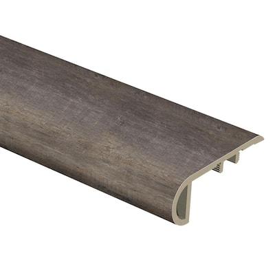 Seasoned Wood/Harrison Pine Dark/Augusta Wood 1 in. Thick x 2-1/2 in. Wide x 94 in. Length Vinyl Stair Nose Molding