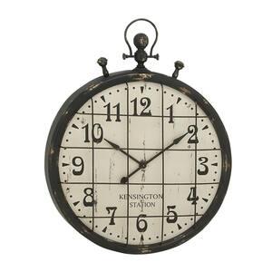 Black Metal Industrial Wall Clock