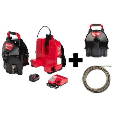 M18 FUEL 18-Volt Lithium-Ion Brushless Cordless Drain Cleaning 3/8 in. SWITCH PACK Sectional Drum Kit w/Drum and Cable