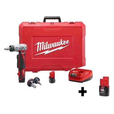 M12 12-Volt Lithium-Ion Cordless 0.5 in. to 1 in. PEX Expansion Tool Kit with Extra M12 2.0 Ah Compact Battery