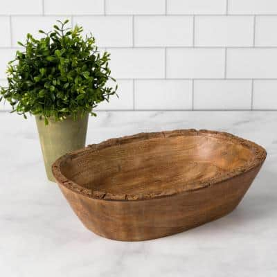 Artisan Wood - Bark Natural Decorative Bowl