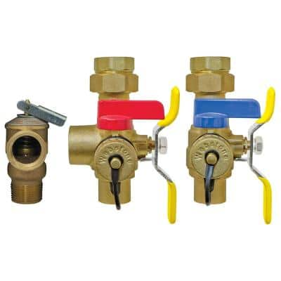 Isolator EXP 1 in. IPS Union x SWT Lead-Free Wall Hung and Combi Boiler Service Valve Kit