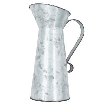 Project Craft Decorative Galvanized Metal Pitcher, 4.1 in. x 9.2 in.