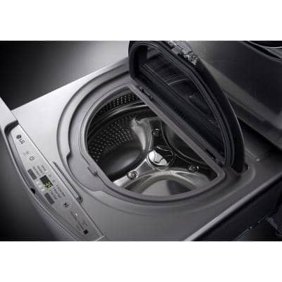 29 in. 1.0 cu. ft. SideKick Pedestal Washer with TWINWash System Compatibility and NeveRust Drum in Graphite Steel