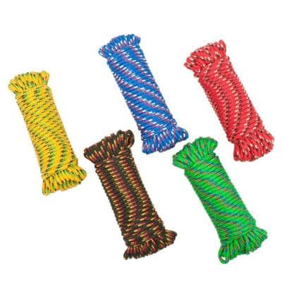 3/16 in. x 50 ft. Assorted Colors Polypropylene Diamond Braid Rope