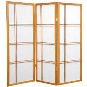 4 ft. Honey 3-Panel Room Divider