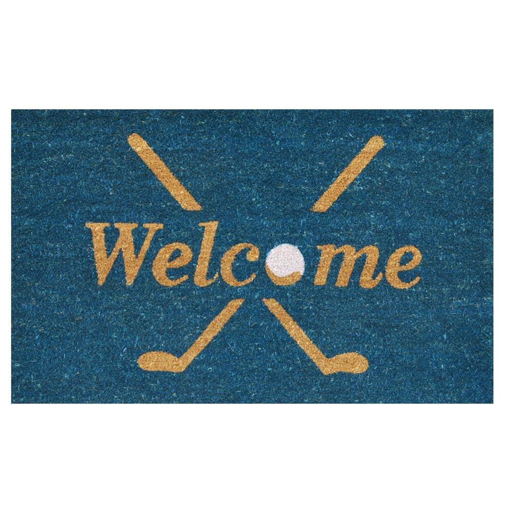 Calloway Mills Golf Welcome Door Mat 17 In X 29 In 122142436 The Home Depot
