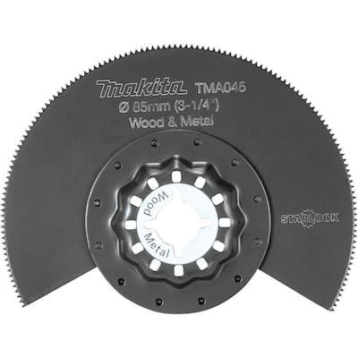 Starlock Oscillating Multi-Tool 3-1/4 in. Bi-Metal Round Segmented Saw Blade