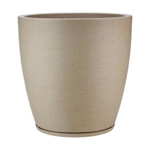 Amsterdan X-Large Beige Stone Effect Resin Planter Bowl