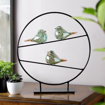 AG Silver Bird Trio Decorative Figurine