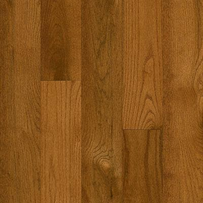 Plano Oak Gunstock 3/4 in. Thick x 5 in. Wide x Varying Length Solid Hardwood Flooring (23.5 sq. ft. / case)