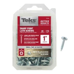 #8 x 1 in. Zinc-Plated Steel Phillips Truss-Head Lath Screws (170-Pack)
