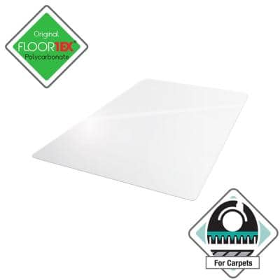Ultimat® Polycarbonate Rectangular Chair Mat for Carpets over 1/2 in. - 48 x 60 in.