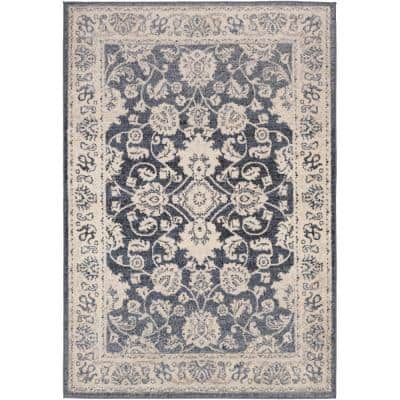 Aidyn Black 7 ft. 10 in. x 10 ft. Area Rug