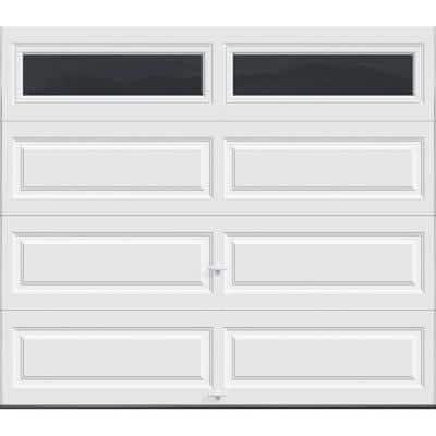 Classic Collection 8 ft. x 7 ft. 18.4 R-Value Intellicore Insulated White Garage Door with Plain Windows