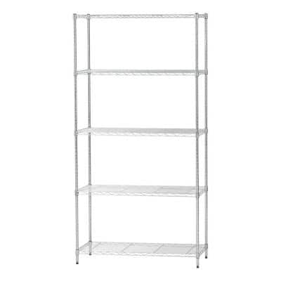 5 Shelf Wire Storage Unit, Silver