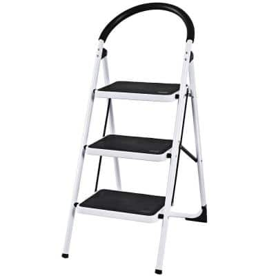 3.54 ft. Metal Step Ladder, 330 lbs. Load Capacity, 5 ft. Reach Height