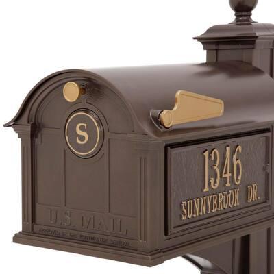 Balmoral Bronze Streetside Monogram Mailbox Package