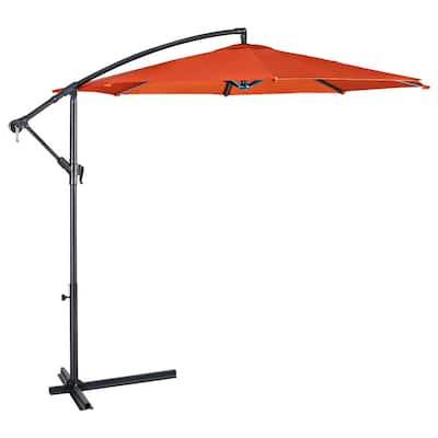 10 ft Metal Market Patio Umbrella in Orange