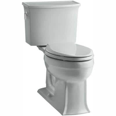 Archer Comfort Height 2-Piece 1.28 GPF Single Flush Elongated Toilet with AquaPiston Flushing Technology in Ice Grey