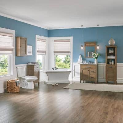 Stanhope 37 in. W x 22 in. D Vanity in Reclaimed Oak with Engineered Stone Vanity Top in Crystal White with White Sink