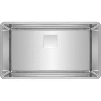 Pescara Undermount Stainless Steel 32.5 in. x 18.5 in. Single Bowl Kitchen Sink