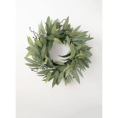 34 in. Artificial Eucalyptus Mix Wreath
