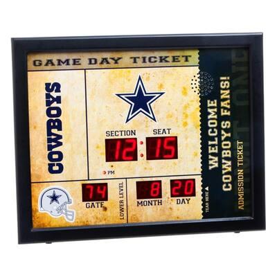 Dallas Cowboys NFL Bluetooth Ticket Stub Wall Clock