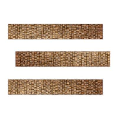 Val 3 in. x 18 in. Bronze Tones Ceramic Decorative Listello Wall Tile (3-Pack)