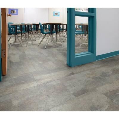 Quarry Slate 12 in. x 18 in. Luxury Vinyl Tile Flooring (24 Tiles/36 sq. ft.)