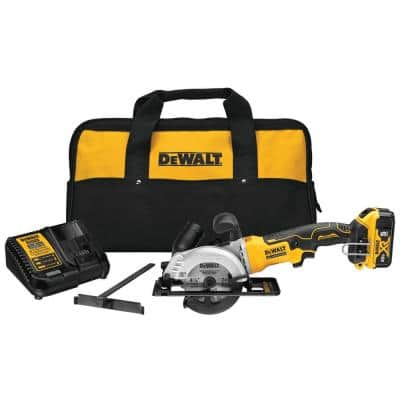 ATOMIC 20-Volt MAX Cordless Brushless 4-1/2 in. Circular Saw with (1) 20-Volt Battery 5.0Ah & Charger
